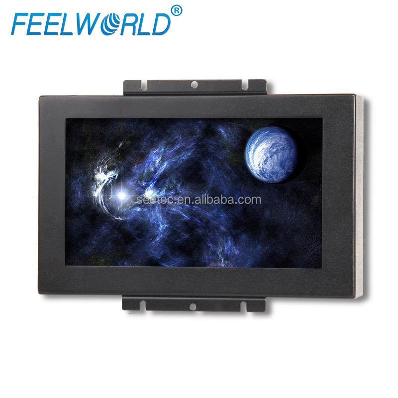"8"" open frame touch screen tft led 800x480 dc 12v power supply tablet lcd monitor with hdmi dvi input and Remote Controller"