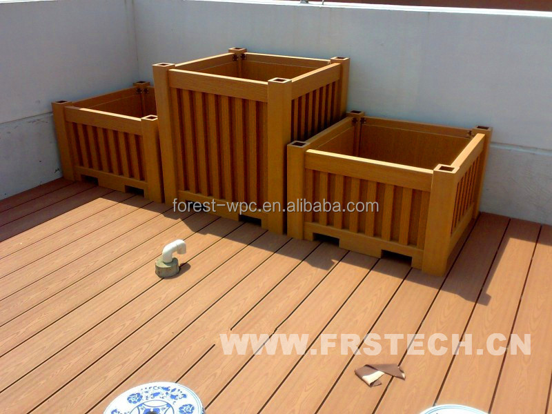 Wholesale 400x390x400mm frstech wpc landscape garden pots for sale