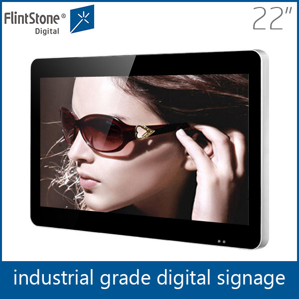 22 inch plug and play auto loop video screens for POS/POP