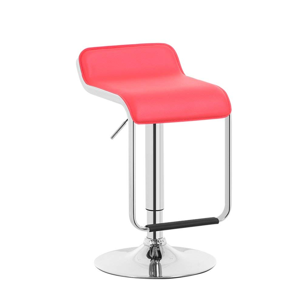 Decorative stool Liftable Bar Chairs, Front Desk Chair Bar Counter Stool Bar Stool Coffee Shop Chair Business Hall Stool Mobile Phone Shop Stool Studio Club House Leisure Stool 70-90cm (Color : Red)