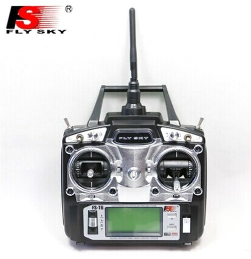 Flysky FS-T6 -RB6 FS 2.4GHz RC Helicopter Transmitter 6CH 6 Channel Radio