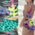 Bathing suit fabric by the yard digital printing stretch swimwear spandex fabric