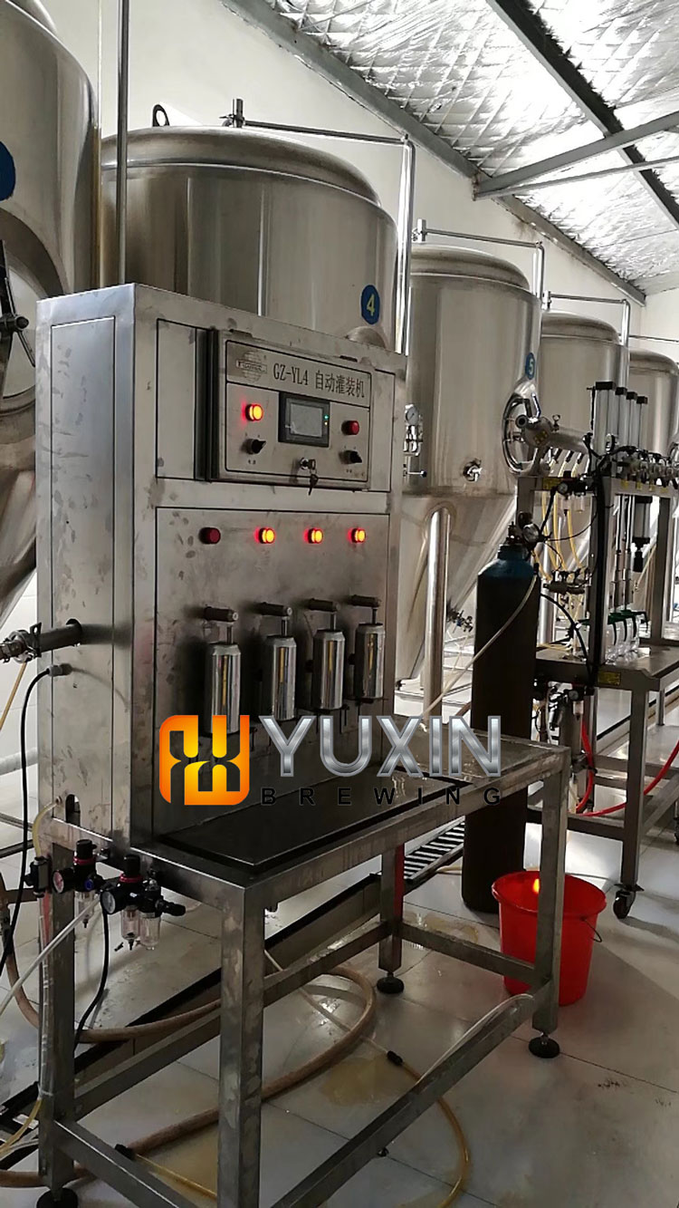 microbrewery or brewpub can beer used canning machine price