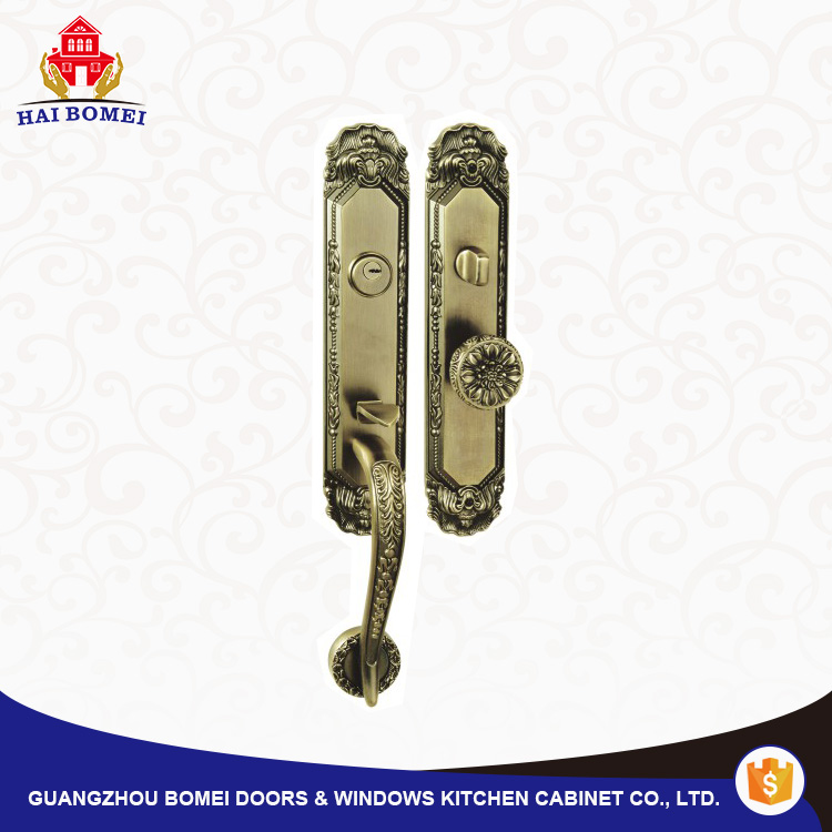 Antique door handle lock set use for wooden door