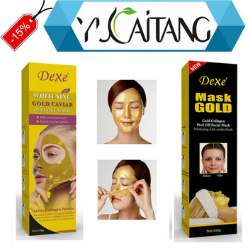 FDA certificat GMP usine 24 k masque facial en or