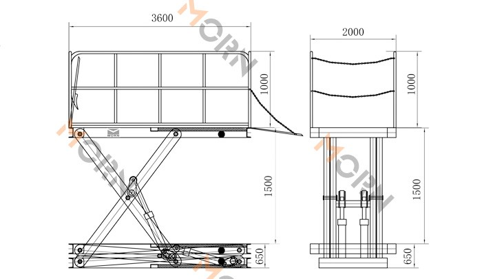 Hydraulic scissor loading dock lift/scissor lift table price, View scissor  lift, MORN Product Details from Jinan Sinicmech Machinery Co , Ltd  on