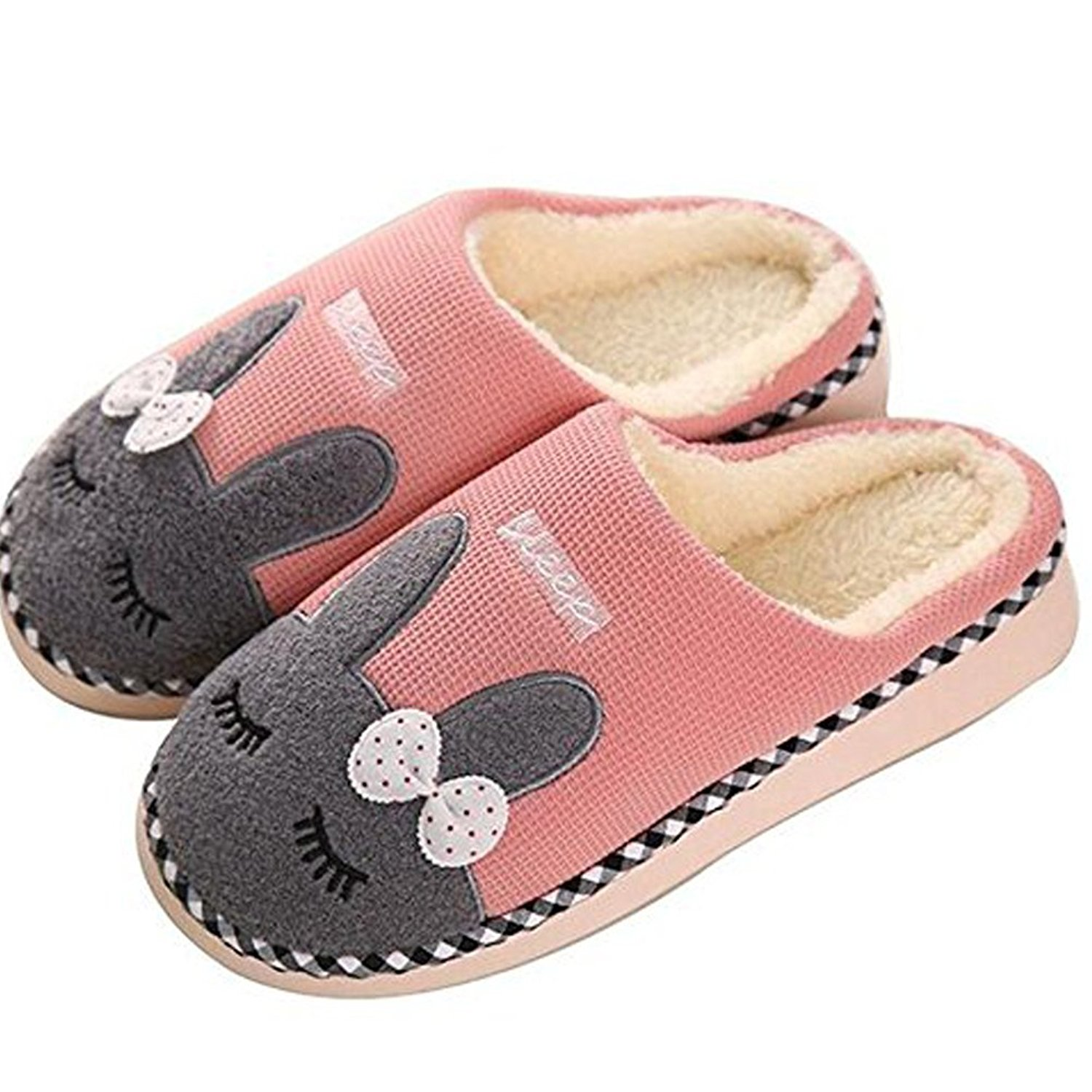 a18cde063 Winter cute stuffed bunny home floor trailer plush boots warm slippers at home  slipper shoes woman 2013 free shipping