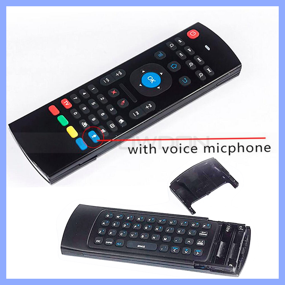 2.4G Wireless 6-Axis QWERTY keyboard Android Gyroscope Air Mouse support voice search and voice calls