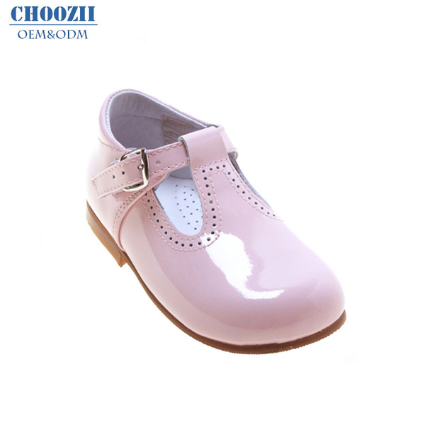 Choozii Wholesale Pink Patent Leather Kids Mary Jane Girls Dress Shoes for Children