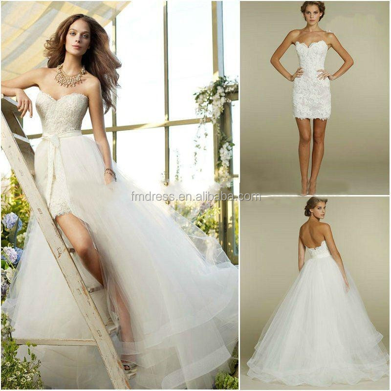 Short Wedding Dresses With Detachable Train Short Wedding Dresses ...