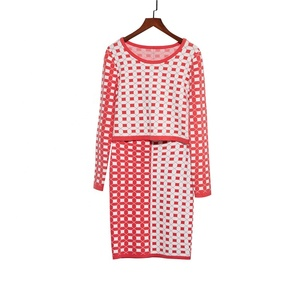 Best Selling Women Geometric Knit Sets