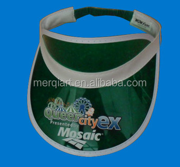 2016 Hot Sell Promotion Customized Plastic Pvc Sun Visor cap hat ... 81f466eba84a