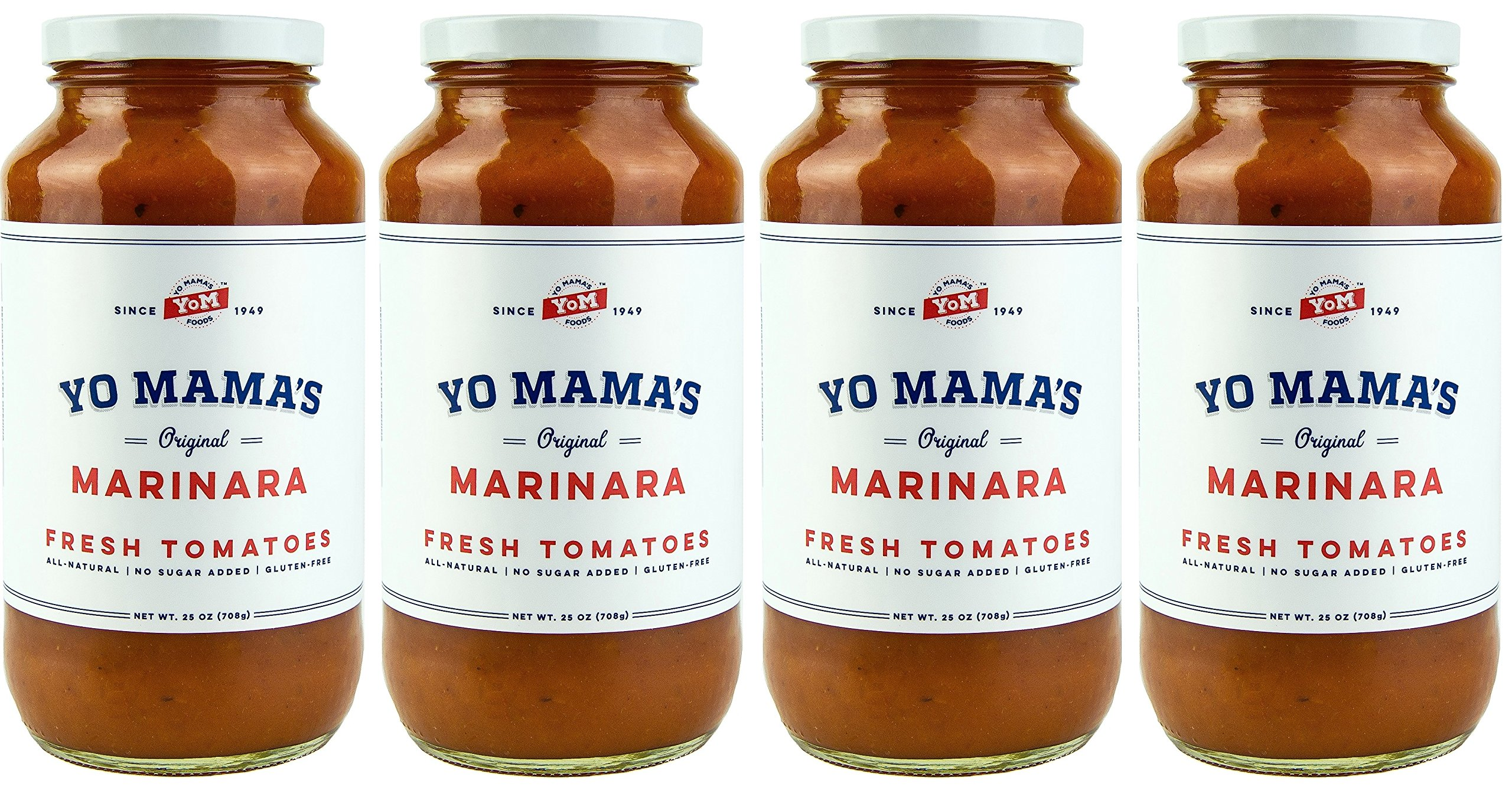 Marinara Magnifica Gourmet Pasta Sauce – (4) 25 oz Jars – Our Award-Winning Sauce is Sugar Free, Gluten Free, Preservative Free, Paleo Friendly, and Made with Whole, Organic Tomatoes!