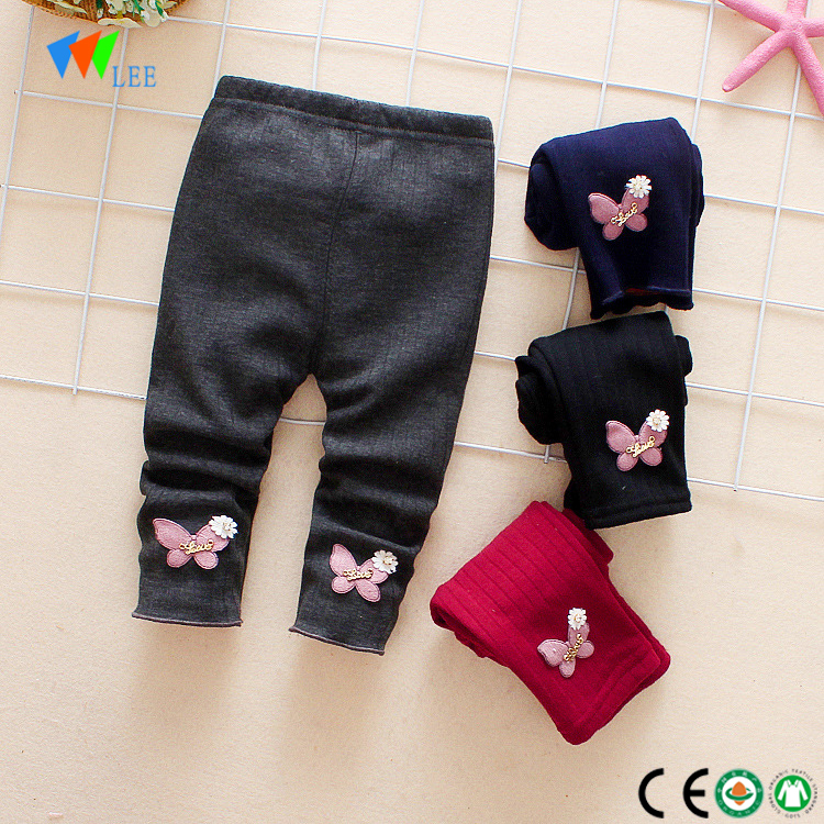 Hot sale girls party wear legging set cotton children leggings wholesale decoration