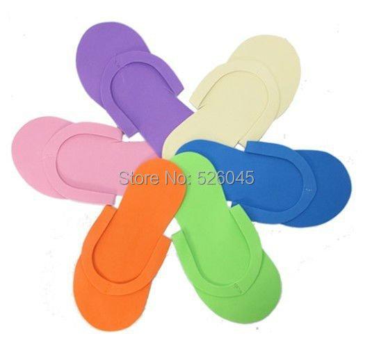 18c03475750d Get Quotations · New Arrival Wholesale 50 pairs lot EVA Foam Salon Spa  Disposable Pedicure thong Slippers skid