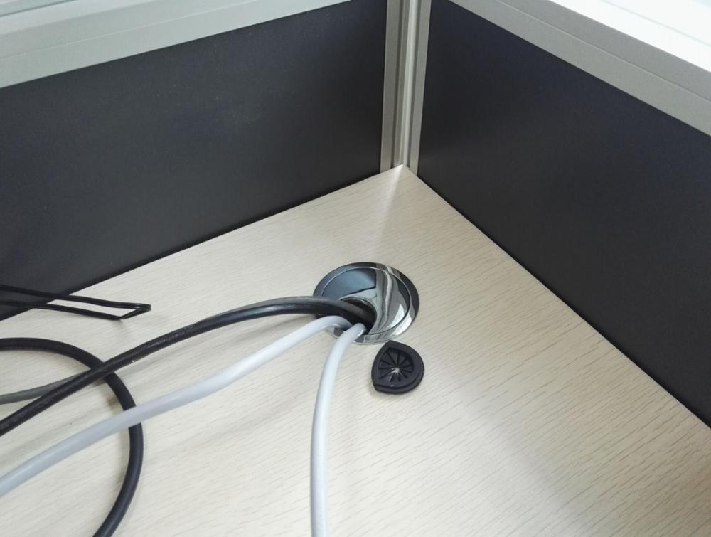 Bureau bureau câble trou bouchon alliage de zinc câble fil boîte