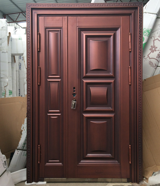 High Quality Exterior Doors Jefferson Door: High Quality Exterior Brass Copper Color Door