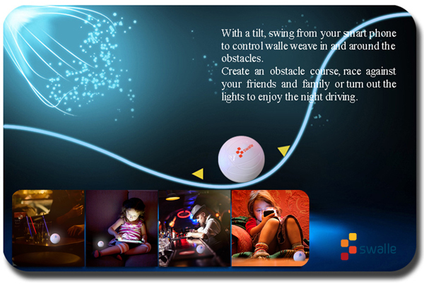 mobile phone controlled toys CES App Wireless Control Sphero Similar Swalle Waterproof Robotic Ball