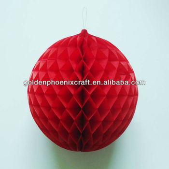 Red Ball Tissue Paper Craft Honeycomb Decoration Bunny Hanging