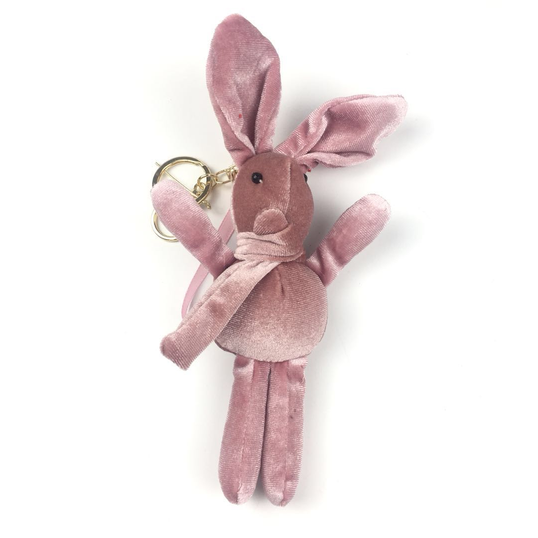 All type of keychains mini rabbit anime keyring