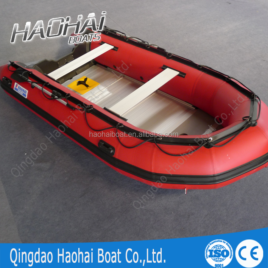 Ft person cm aluminum floor inflatable fishing boat