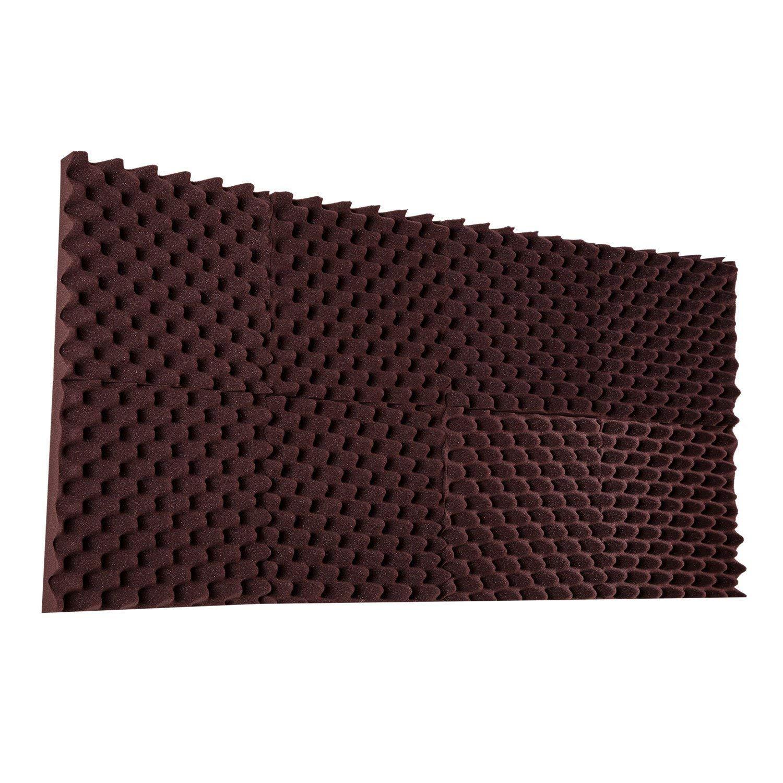 6 Pack Eggcrate Acoustic Foam Sound Proof Foam Panels Noise Dampening Foam Studio Music Equipment 1.5 x 10 x 10