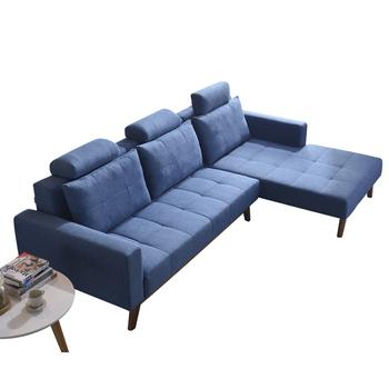 Home Furniture Sponge Sectional Wood Frame Designs Modern Fabric Sofa Set
