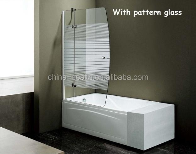 Vasca Da Bagno Vetro : Porta in vetro temperato vasca da bagno doccia schermo per vasca