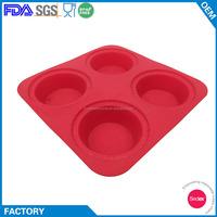 Microwave Safe 4 Round Large Silicone Cake Baking Pans