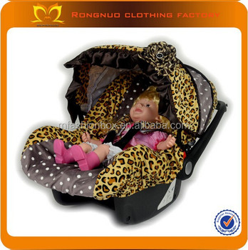 Wholesale Newest Car Seat Cover Black And White Infant Canopy Fit Most