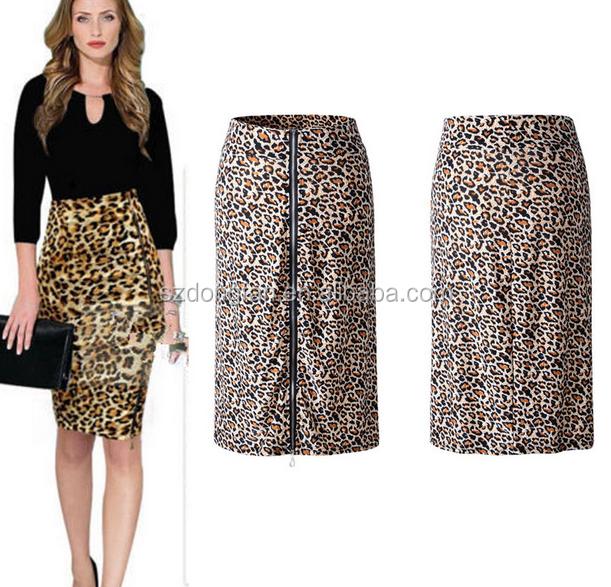 Las mujeres de moda de la rodilla-longitud Oficina faldas diseños verano  dama falda faldas cffb29af5f6f