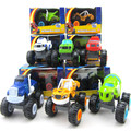2016 6pcs set Blaze Monster Machines Toys Vehicle Car Transformation Toys With Original Box Best Gifts