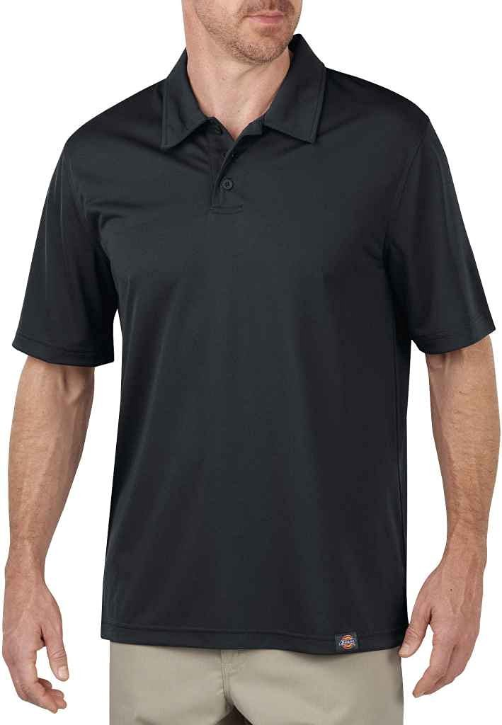 Dickies Men's Industrial Polo Without Pocket, Dow Charcoal - LS405DC
