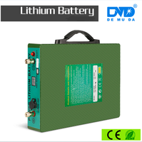 Light weight small size long life PC PVC casing lithium battery 12v 100aH 200aH with UL/CE/MSDS/UN38.3