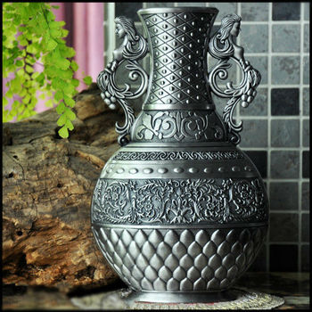Vintage Carving Metal Vase For Flower Arrangement Buy Vaseflower