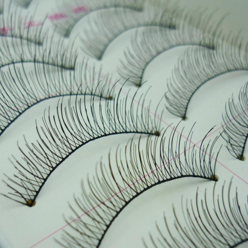 a9f726b4325 Get Quotations · 10 Pairs False Eyelashes, AMA(TM) Women Handmade Long False  Eyelashes Natural Sparse