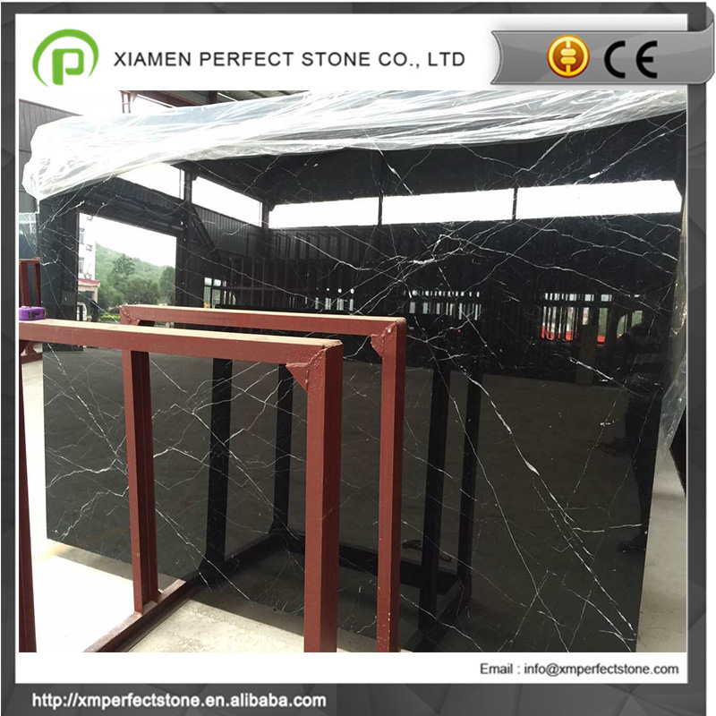 Black marble with white veins with black marble slab price