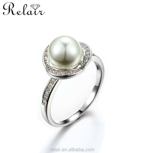 Bangkok jewelry silver 925 wholesale silver ring freshwater pearl ring designs for women gift