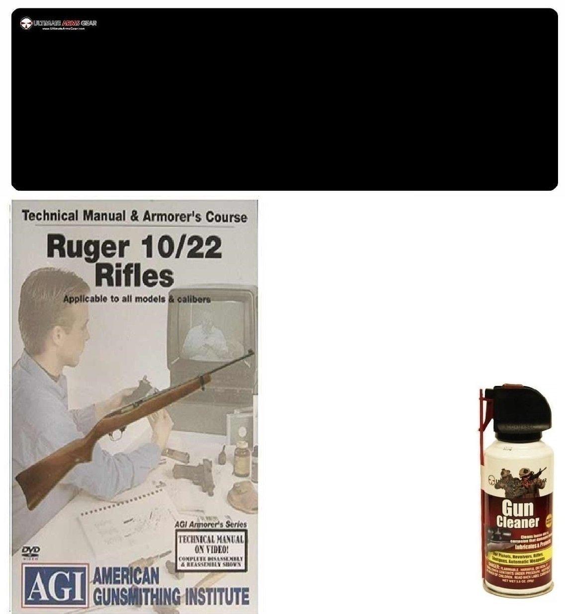 American Gunsmithing Institute DVD Manual & Armorer's Course Springfield M 1903 & '03 A3 Rifles Rifles + Ultimate Arms Gear Gunsmith & Armorer's Cleaning Bench Gun Mat