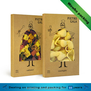 brown kraft paper fried chips packet packaging food box with pvc window