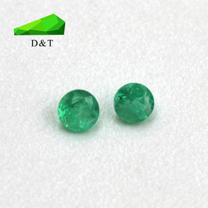 High quality small size 2mm natural loose gems green emerald stone prices