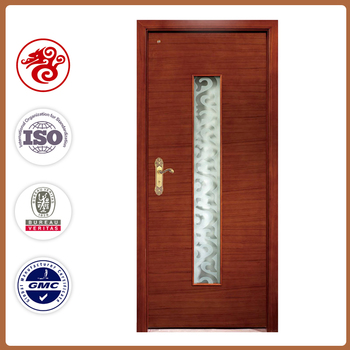 Modern Design Interior Wooden Glass Door Single Frosted Wood