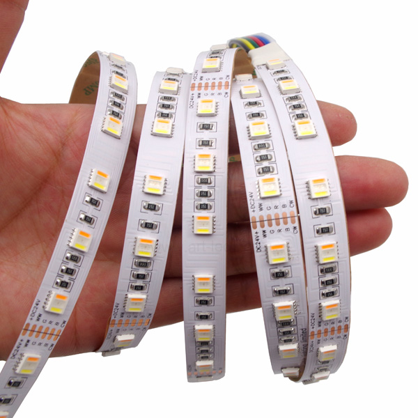 New arrival 5 colors in 5050 led 5in1 rgbw amber tape channel cold white with super brightness