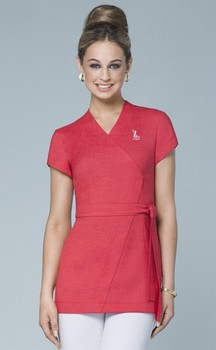 Spa uniform buy salon spa uniforms product on for Spa vest uniform