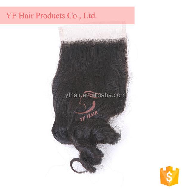 Peruvian hair weaving 100% human loose wave with lace closure virgin hair bundles with lace closure