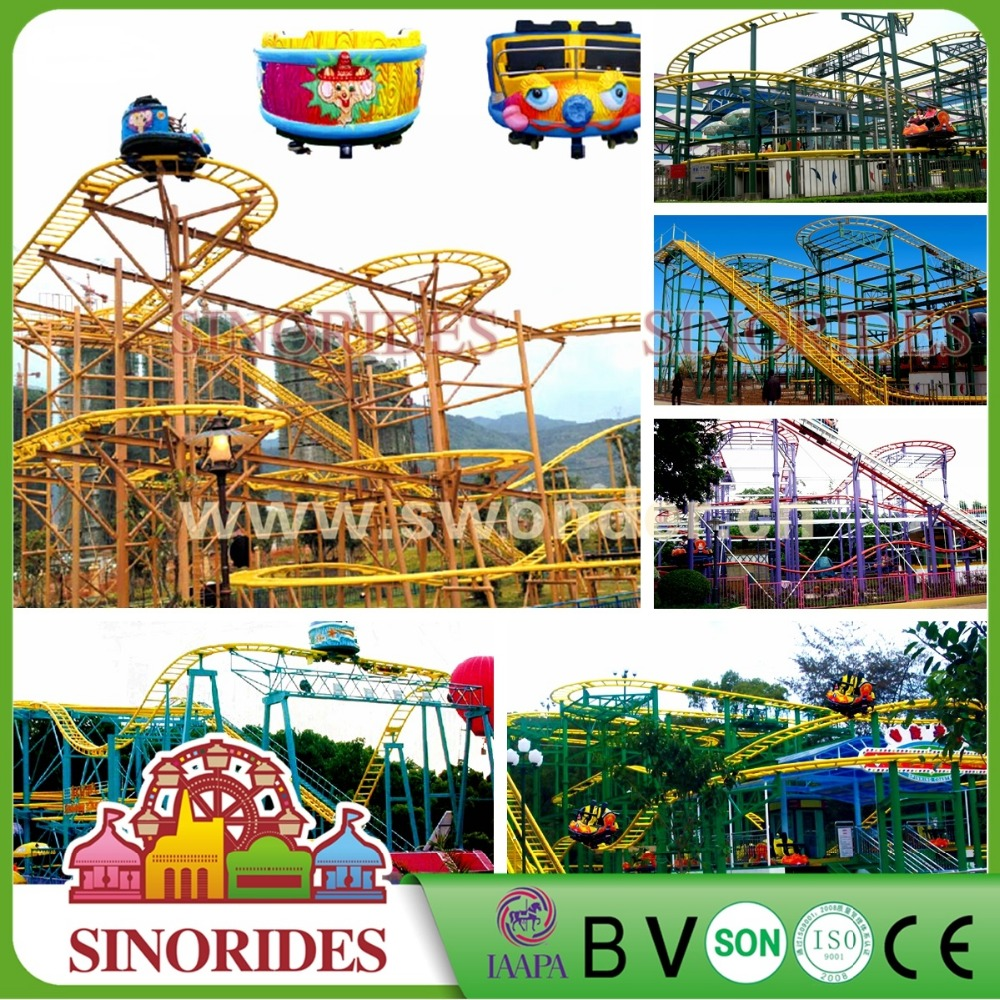 Sinorides Brand 5 Cars 20 Seats 350M Track Big Roller Coaster Spinning Coaster For Sale