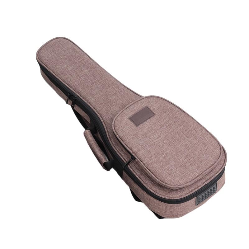 "Fabriek direct 15mm padding ukulele tas, dubbele bandjes 21 ""23"" 26 ""gitaar tas OEM"