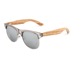 Qetesh Promotional Customized Logo Sun Glasses Women Sports Polarized Lens Wooden Sunglasses