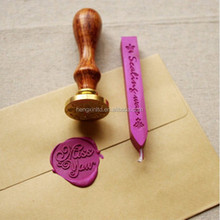 2018 Wooden Embossing wax seal /Custom Logo Sealing Wax Stamp Set