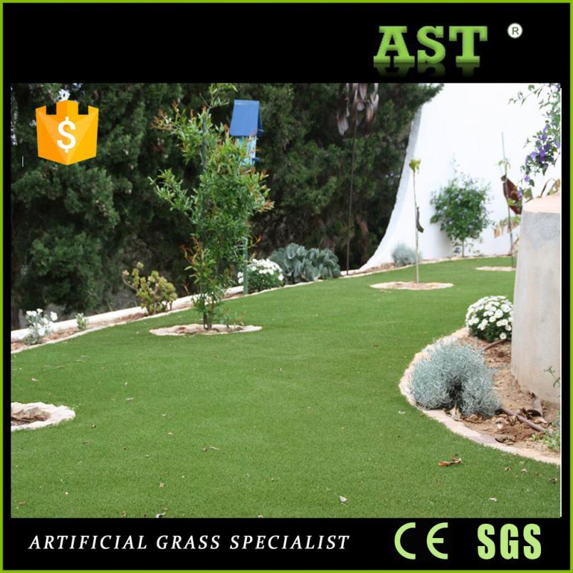 Natural Beige Thatch Turf Fake Artificial Grass Rubber Mat